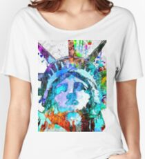 Statue of Liberty Grunge Women's Relaxed Fit T-Shirt