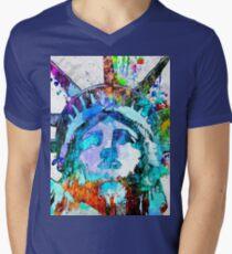 Statue of Liberty Grunge Men's V-Neck T-Shirt