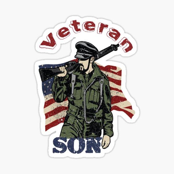 Veteran Son Quote Sticker