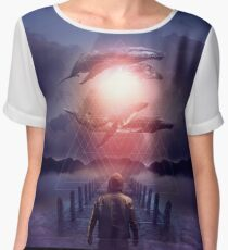 The Space Between Dreams and Reality Chiffon Top