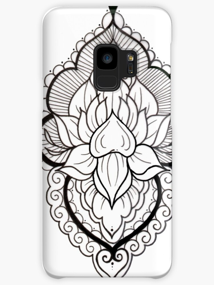 Fundas Y Vinilos Para Samsung Galaxy Mandala Tattoo Flash Blanco Y