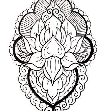 Mandala Tattoo Flash Black and White by HorimonoAtelier