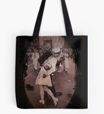 Kisses at the End of the War Tote Bag