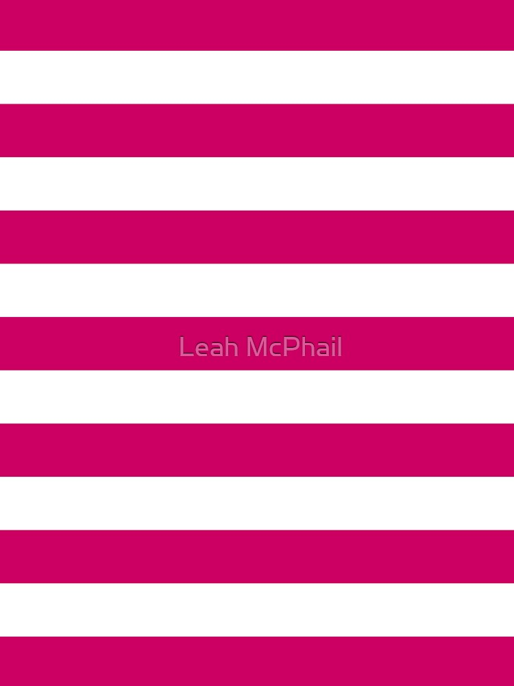 Dark Pink and White Stripes by LeahMcPhail