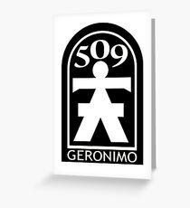 509th Airborne Infantry - Geronimo Greeting Card