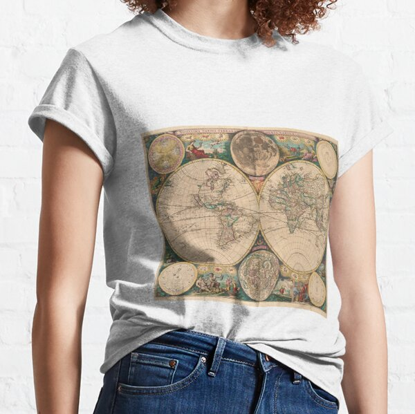 Vintage Map of The World (1672) 2 Classic T-Shirt