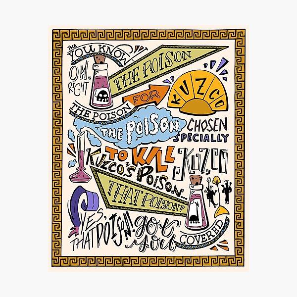 Kuzcos Gift (koloriert, hellbrauner Hintergrund) Fotodruck