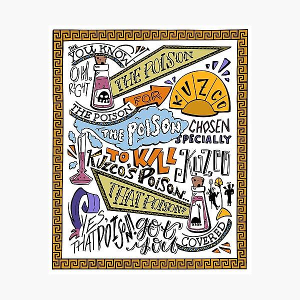 Kuzcos Gift (koloriert) Fotodruck