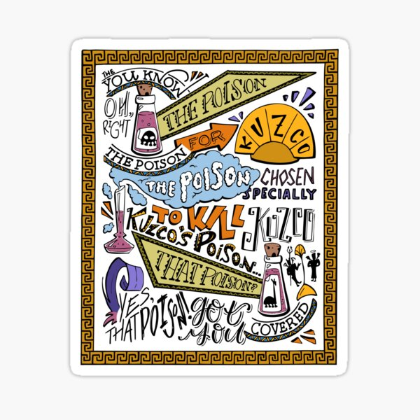Kuzcos Gift (koloriert) Sticker