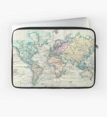 Vintage Karte der Welt (1801) Laptoptasche