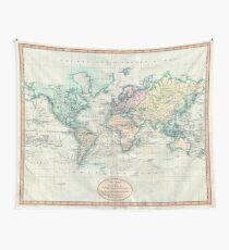 Vintage Karte der Welt (1801) Wandbehang
