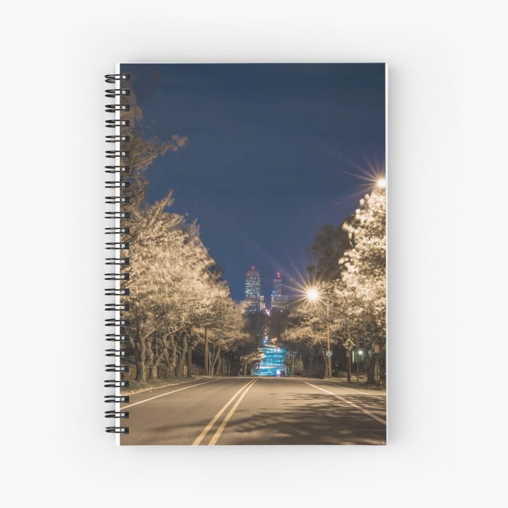 Silent Main Street Winston Salem  Spiral Notebook