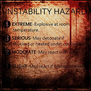 MSDS Reactivity Instability Warning Hazard Plaque | Relaxed Fit T-Shirt