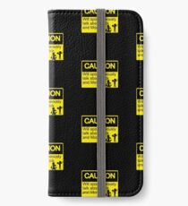 Rick and Morty Caution sign iPhone Wallet/Case/Skin
