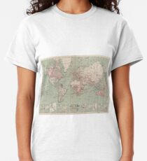 Vintage Map of The World (1918)  Classic T-Shirt