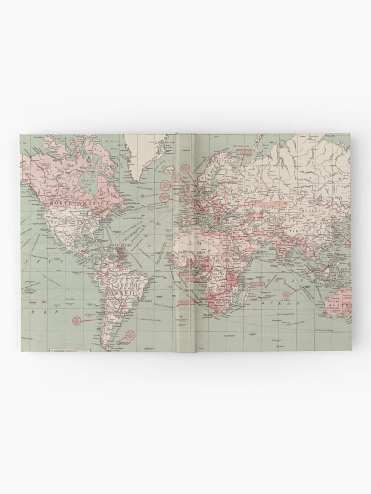 Alternate view of Vintage Map of The World (1918)  Hardcover Journal
