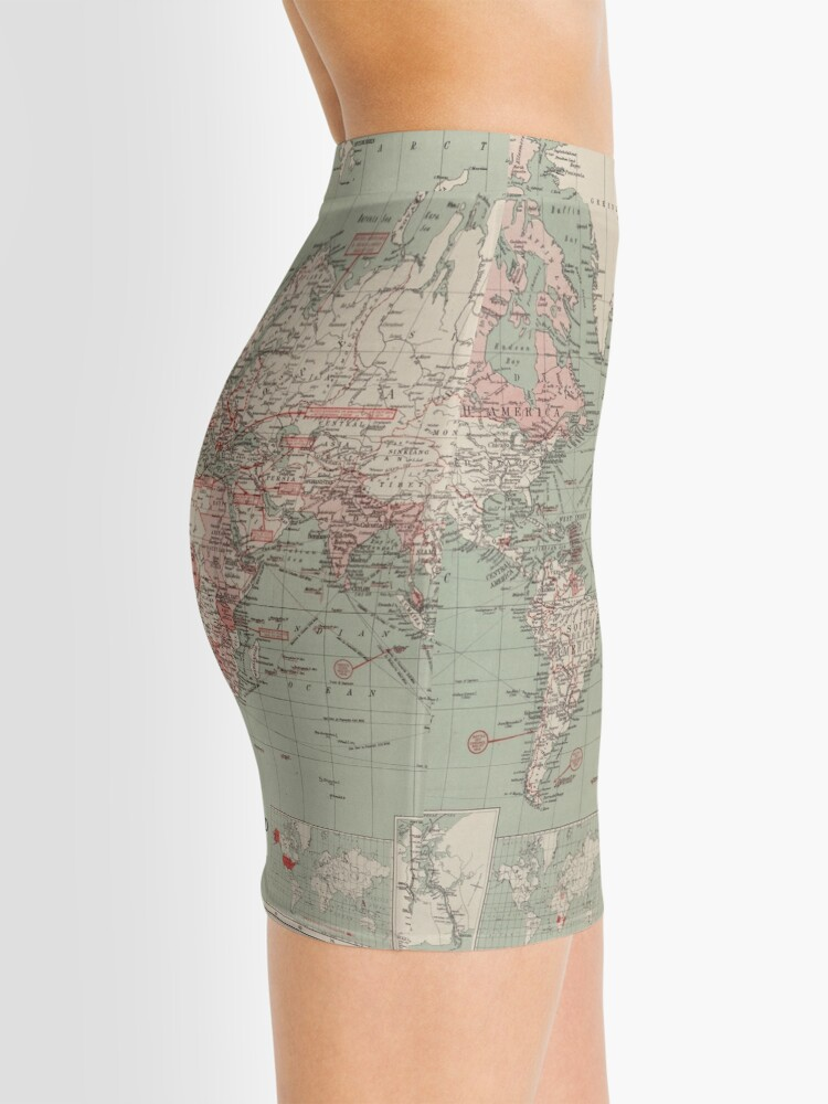 Alternate view of Vintage Map of The World (1918)  Mini Skirt