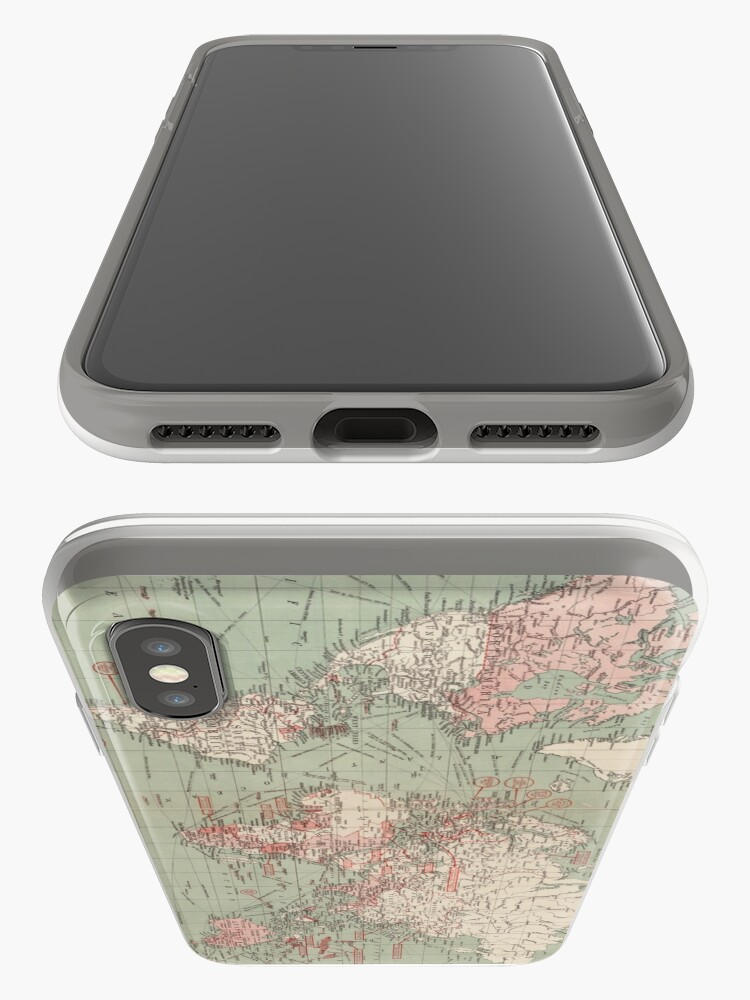 Alternate view of Vintage Map of The World (1918)  iPhone Case & Cover