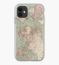 Vintage Map of The World (1918)  iPhone Case