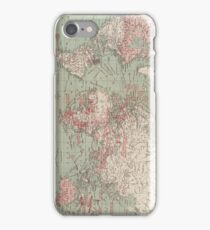 Vintage Map of The World (1918)  iPhone Case/Skin