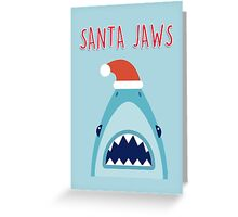 Santa Jaws Greeting Card