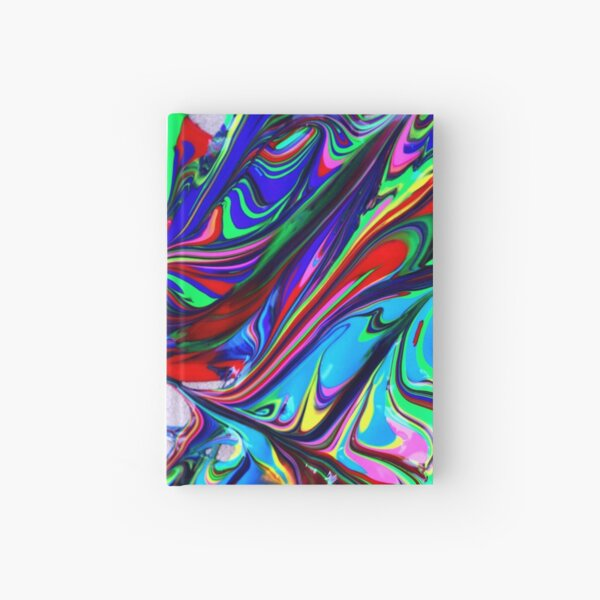 multi colored abstract Hardcover Journal