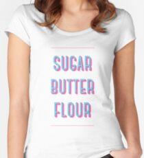 Zucker Buttermehl   Kellnerin Tailliertes Rundhals-Shirt