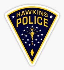 Hawkins, Indiana Police Sticker