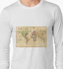 Vintage Map of The World (1831)  Long Sleeve T-Shirt