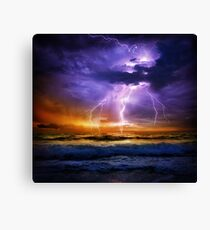 Illusionary LIghtning Canvas Print