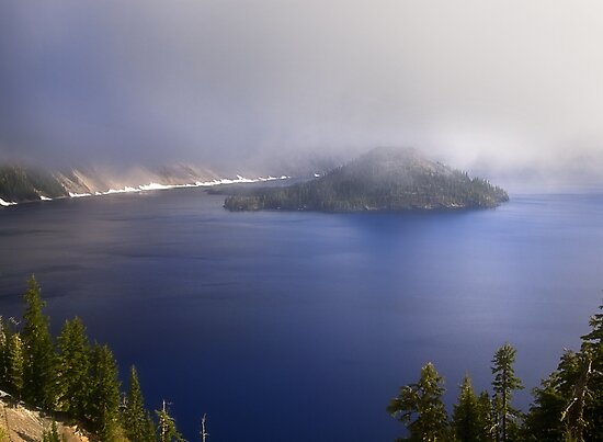 Wizard Island - Crater Lake National Park by Kathy Weaver