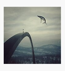 Boy and the flying whale Photographic Print