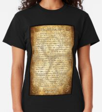Wiccan Rede with Parchment Background Classic T-Shirt