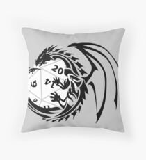 Dungeons and Dragons - Black and White! Throw Pillow