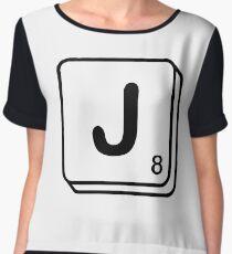 J scrabble print Chiffon Top
