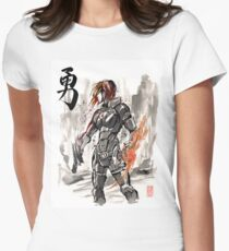 Female Shepard with Japanese Calligraphy Courage T-Shirt