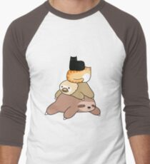 Sloth and Cat Pile T-Shirt