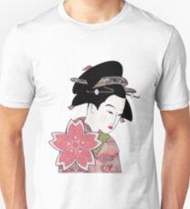 Cherry Blossom Geisha Unisex T-Shirt