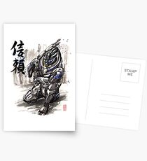 Mass Effect Garrus Sumie style with Japanese Calligraphy Postkarten