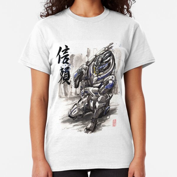Mass Effect Garrus Sumie style with Japanese Calligraphy Classic T-Shirt