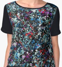 paint drop design - abstract spray paint drops 3 Women's Chiffon Top