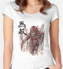Mass Effect Urdnot Wrex Sumie style Women's Fitted Scoop T-Shirt
