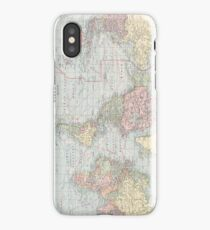Vintage World Map (1901) iPhone Case/Skin
