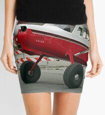 Aircraft (red,black & white) at Lake Hood, Alaska Mini Skirt