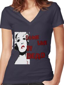 Some Like It Dead Women's Fitted V-Neck T-Shirt