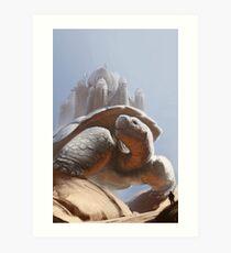 Turtle Temple Art Print