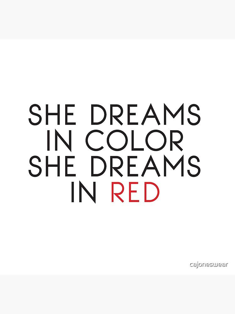 Ella sueña en color de cajoneswear