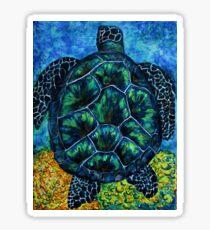 Fireworks Turtle Sticker