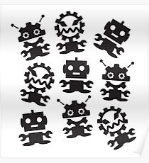 Old School Monster Gear Poster
