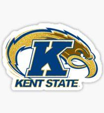 Kent State University Golden Flash Logo Glitter Sticker